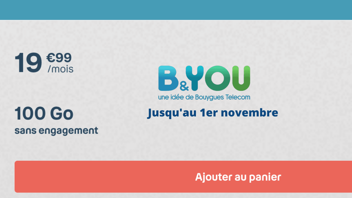 Forfait mobile B&YOU 100 Go