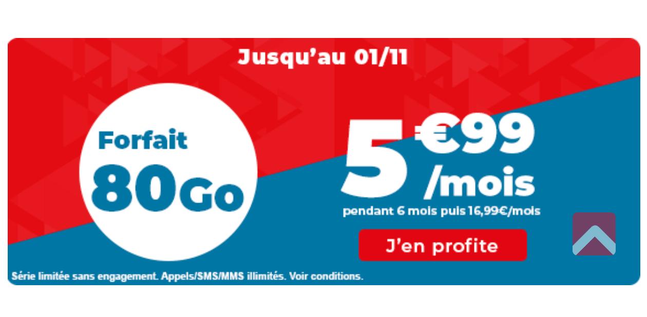 Auchan promo 5,99e 80 Go