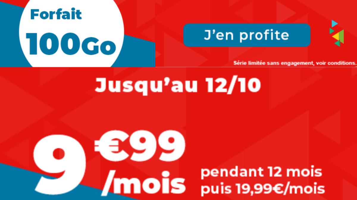 Le forfait mobile 100 Go Auchan télécom.
