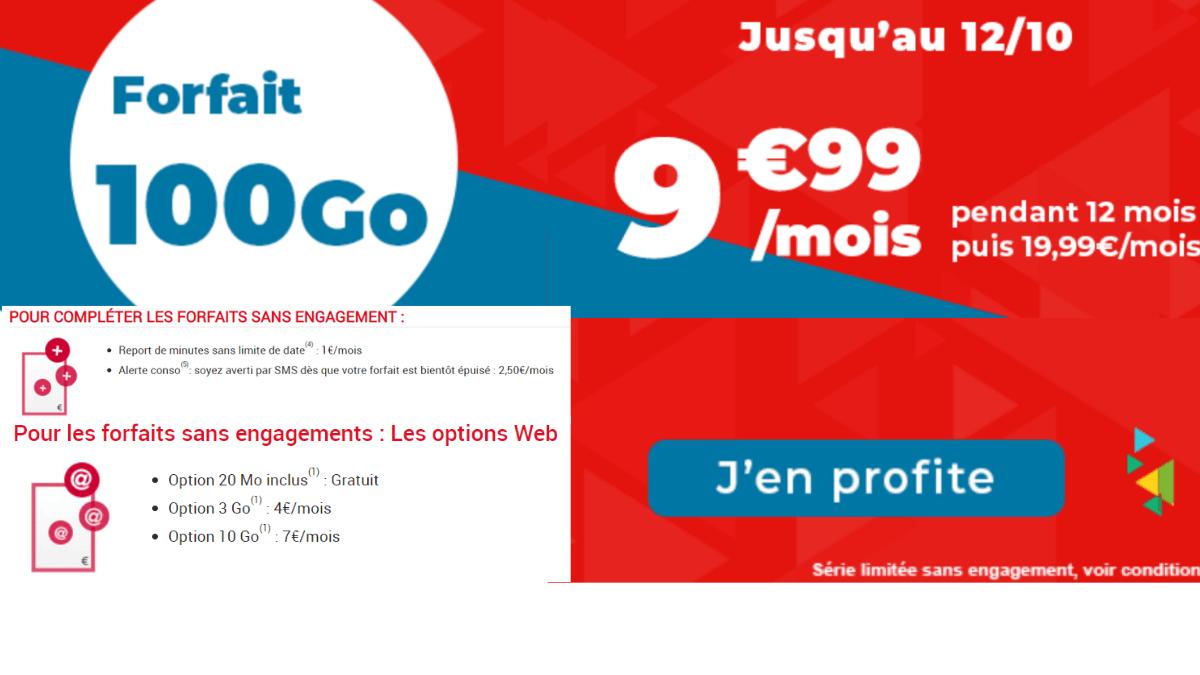 Auchan Telecom fait une promotion sur son forfait 100 Go