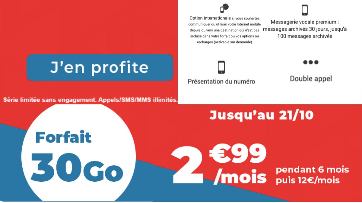 Le forfait 30 Go de Auchan télécom.