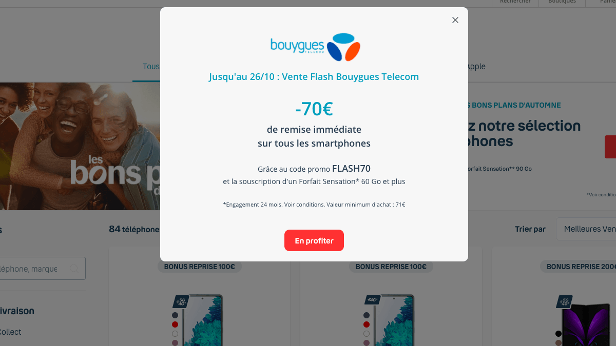 Bouygues telecom vente flash