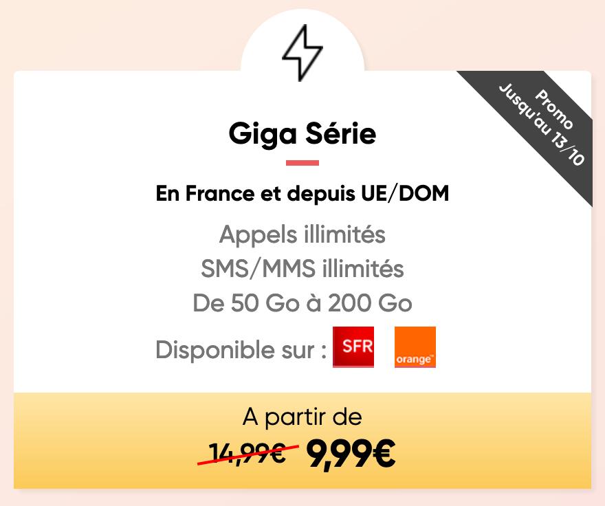 Prixtel Forfait Mobile Giga Série