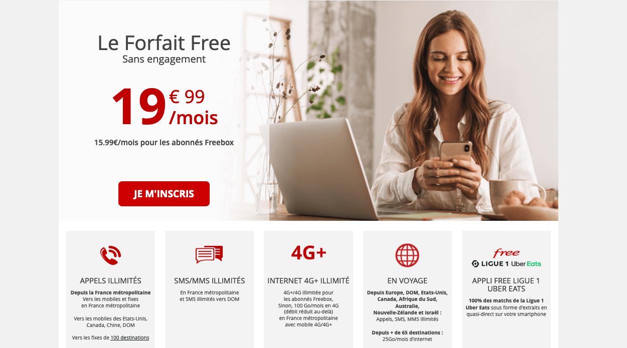 Forfait Free promotion
