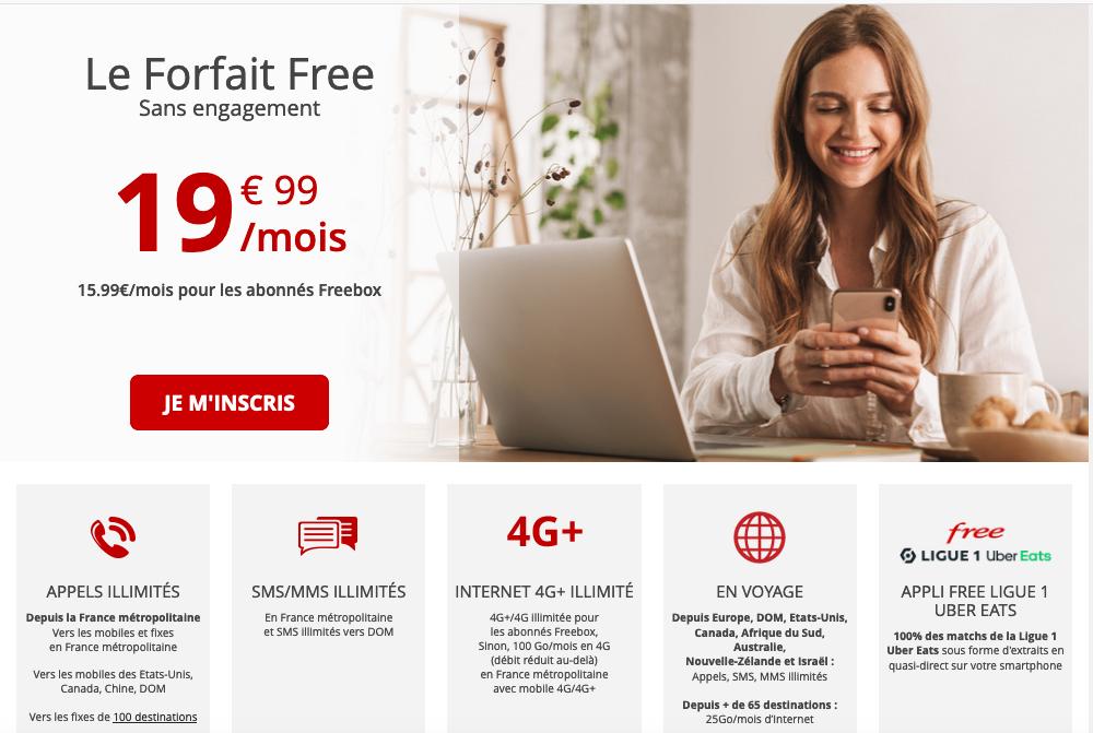 forfait Free avec iPhone 11