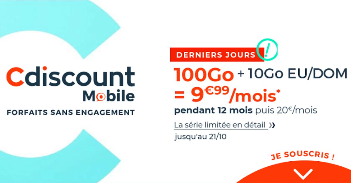 Forfait mobile 100 Go Cdiscount