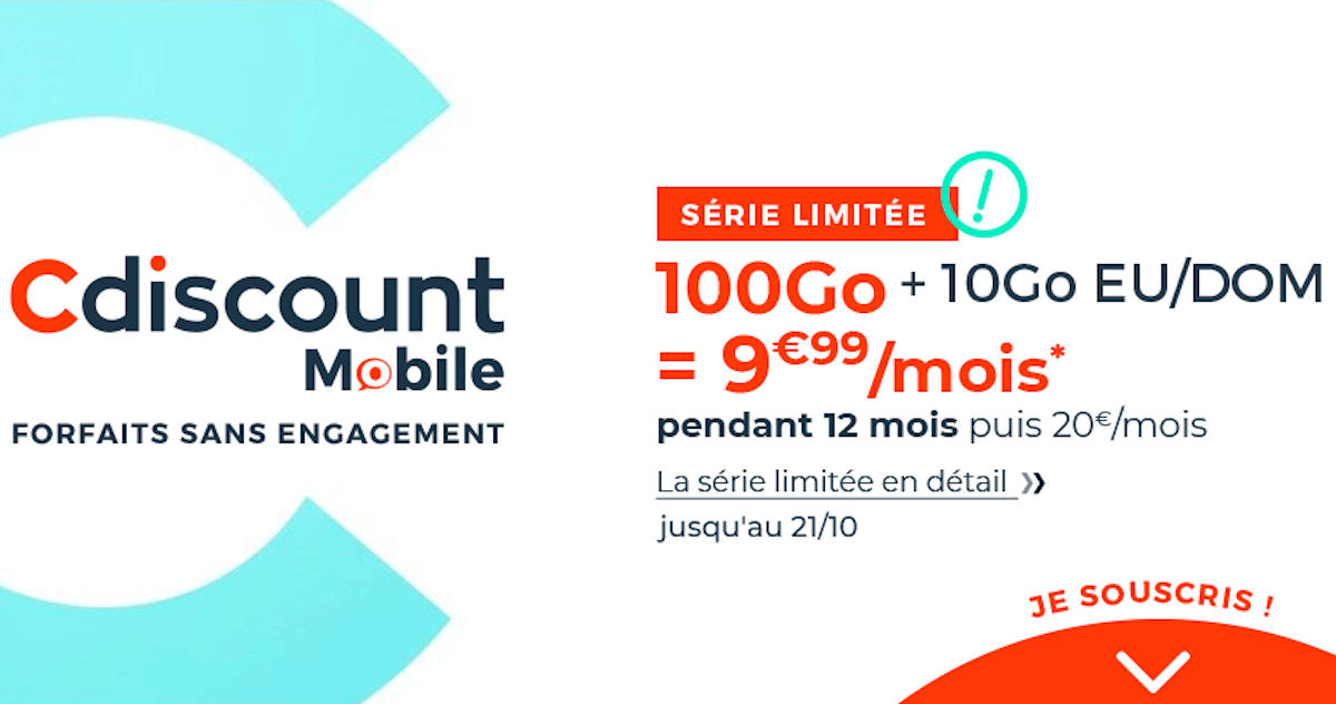 Forfait mobile 4G Cdiscount