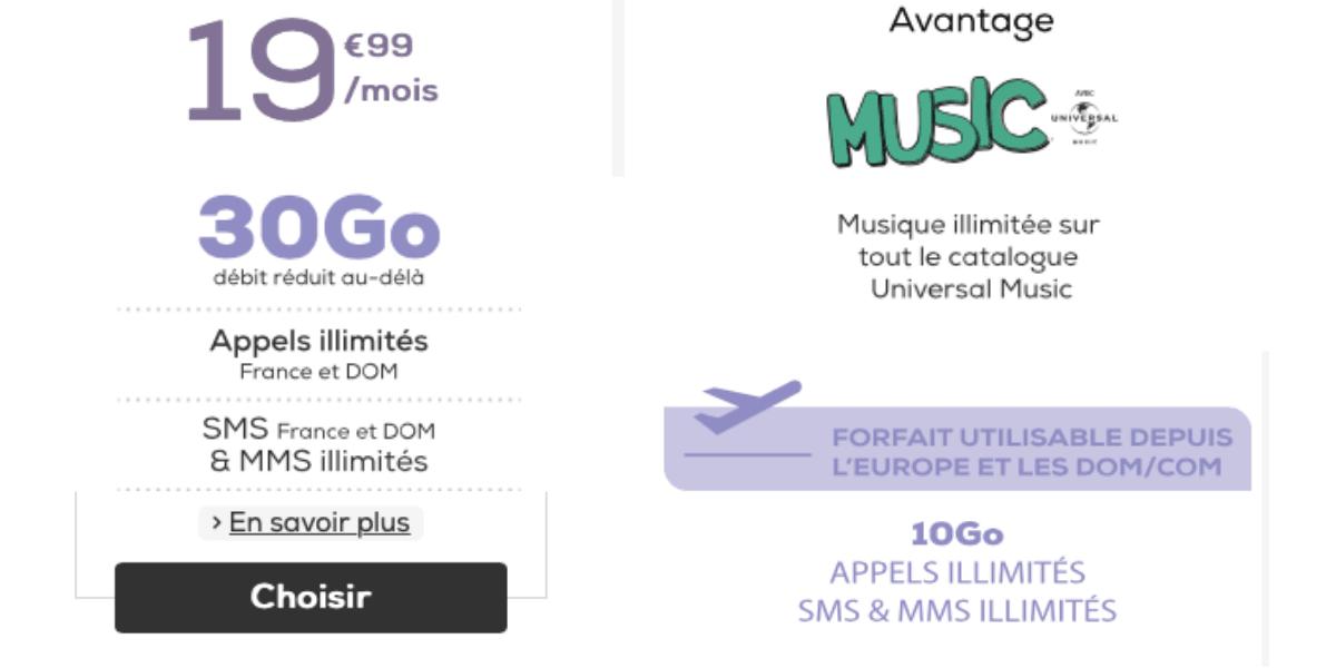 La Poste mobile offre un avantage music avec son forfait 30 Go