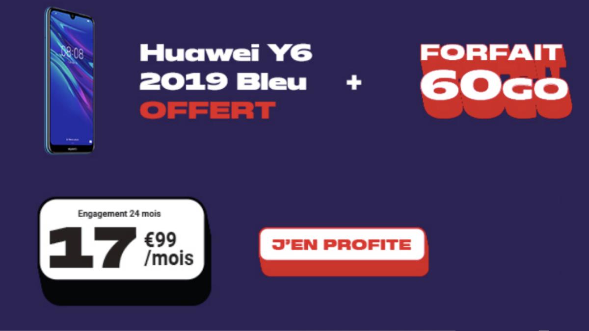 Forfait 60 Go NRJ Mobile + Huawei Offert