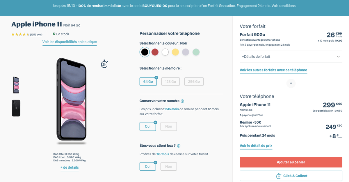 pack bouygues iPhone 11