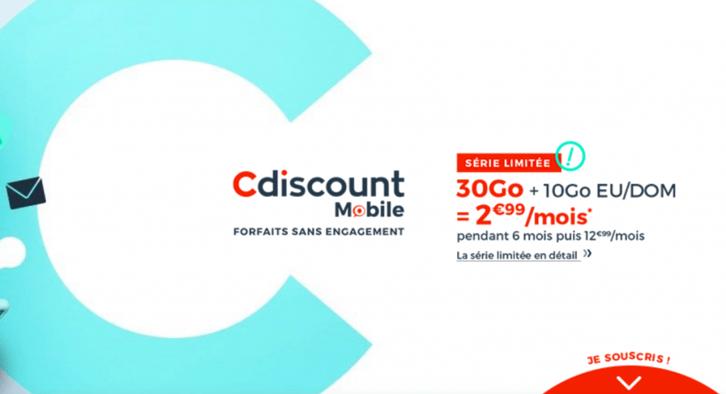 forfait 30 Go Cdiscount Mobile