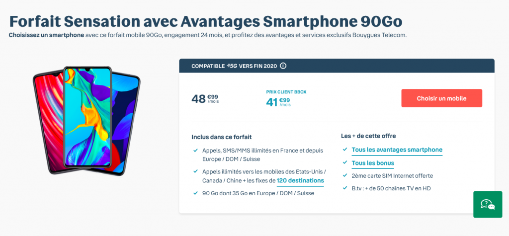 forfait mobile Bouygues 90 Go