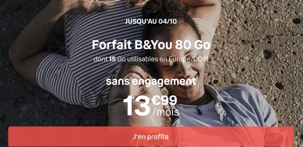 forfait mobile B & YOU