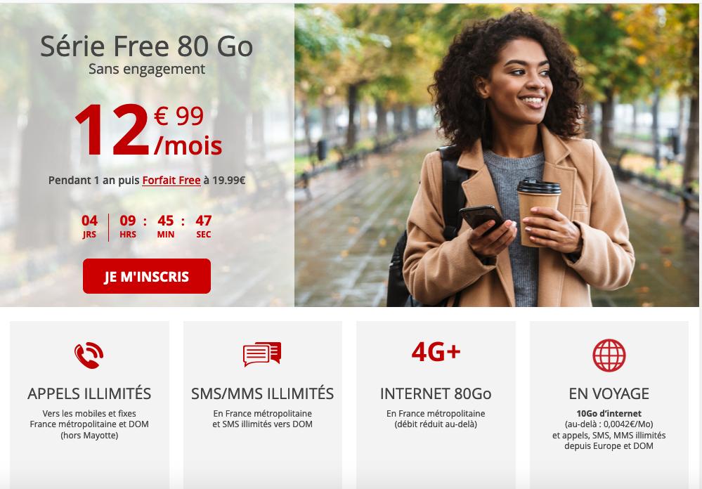 forfait mobile gratuit 80 Go