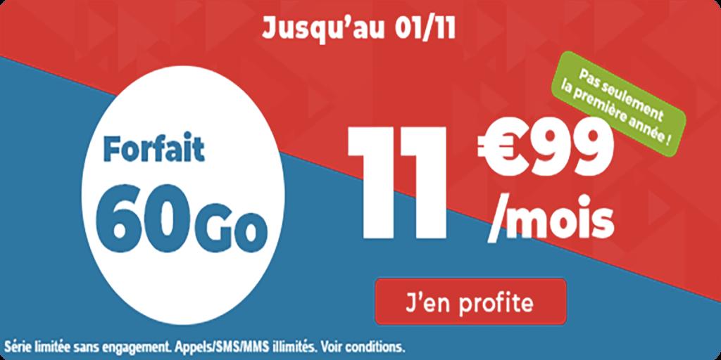 forfait 60 Go Auchan Telecom
