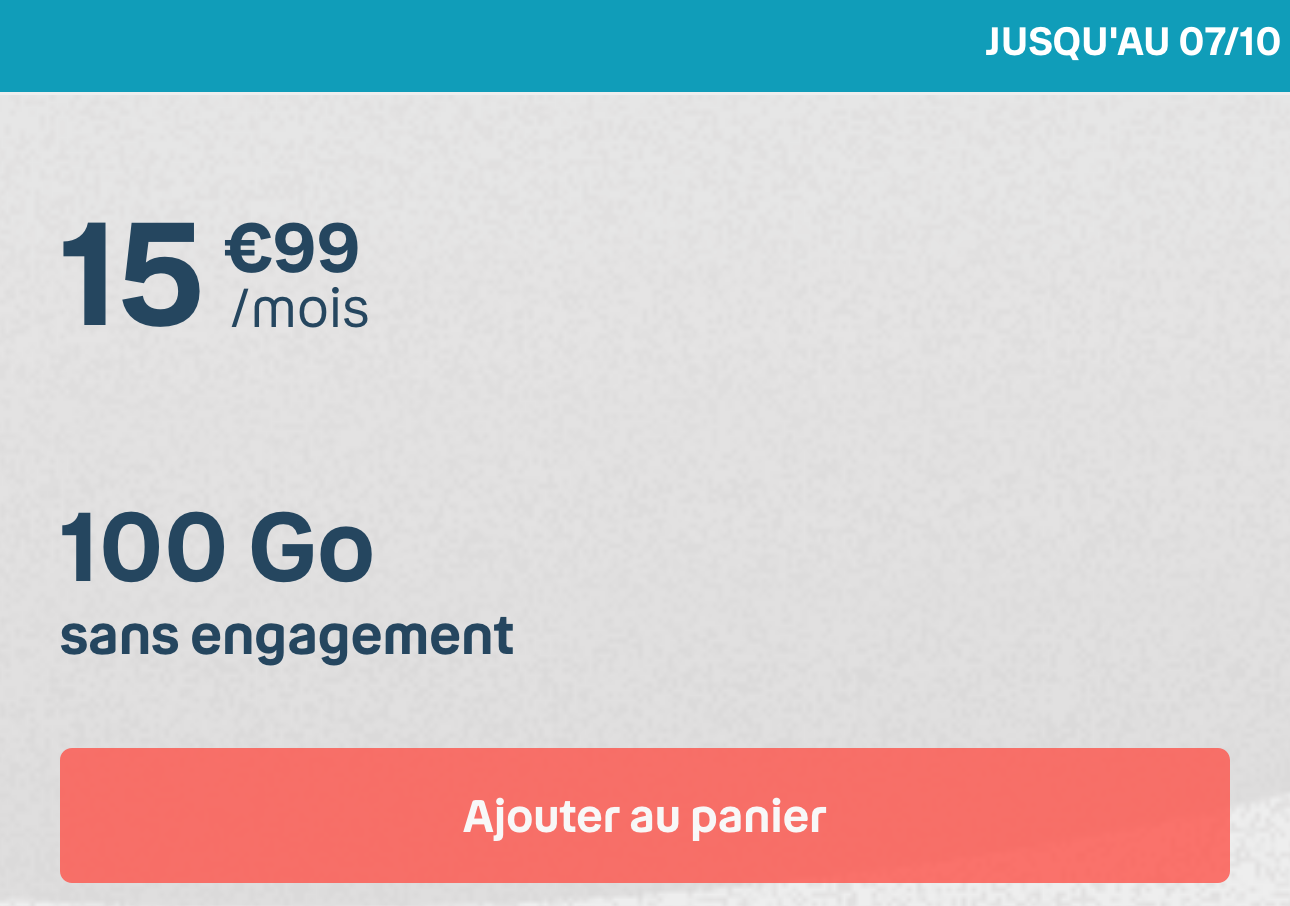 Forfait Mobile Bouygues 100 Go