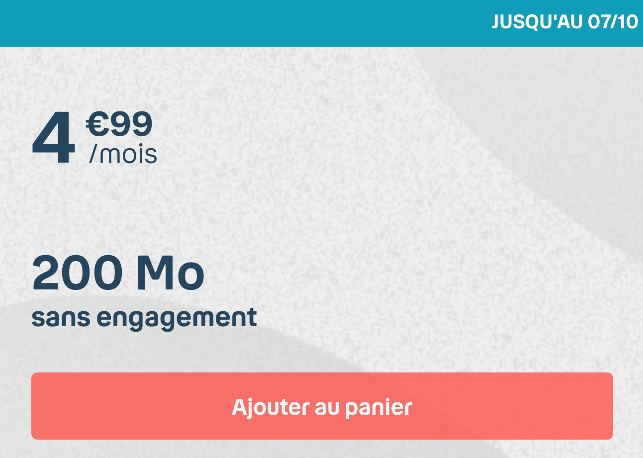 Forfait Mobile Bouygues 200 Mo