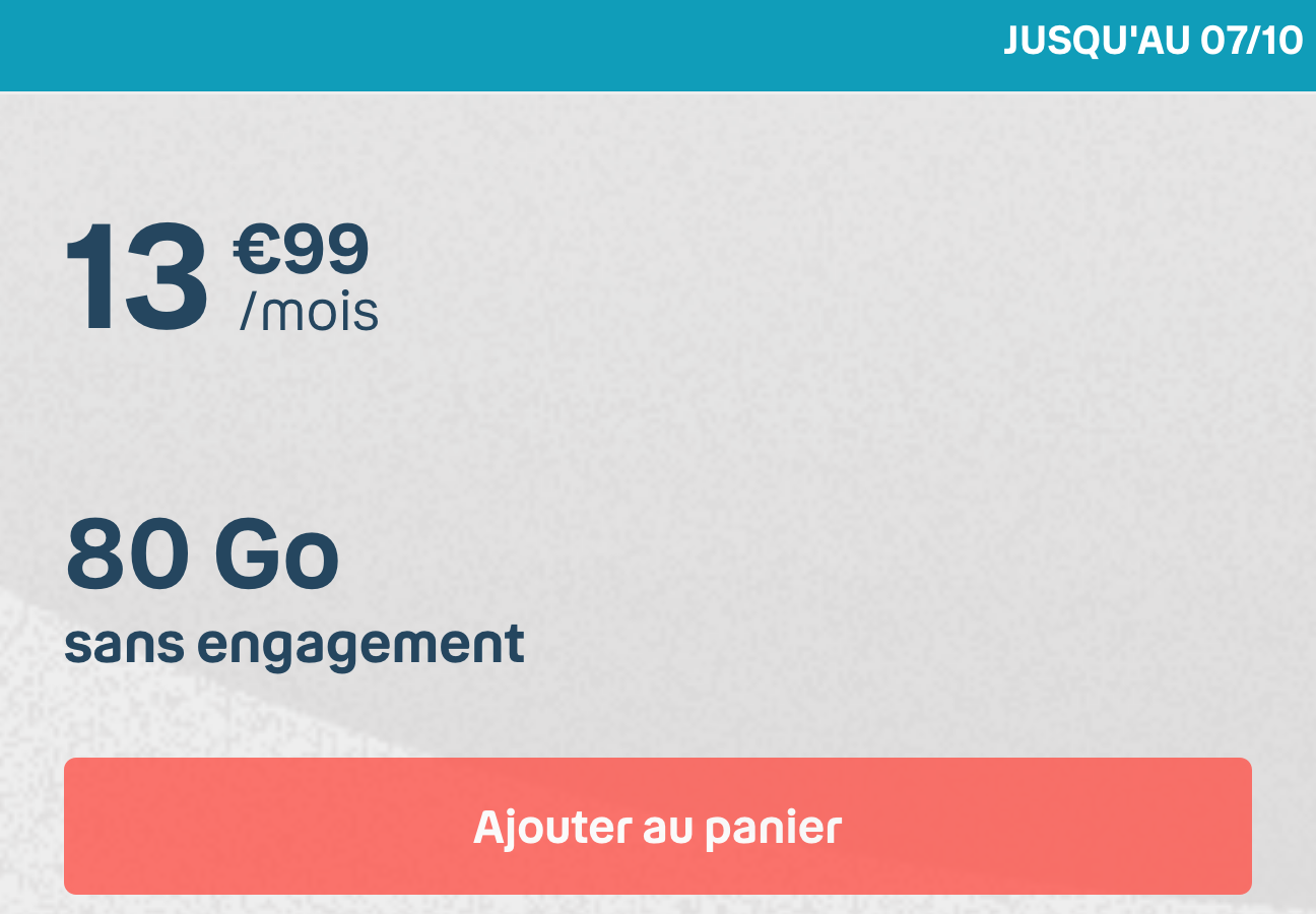 Forfait Mobile Bouygues 80 Go