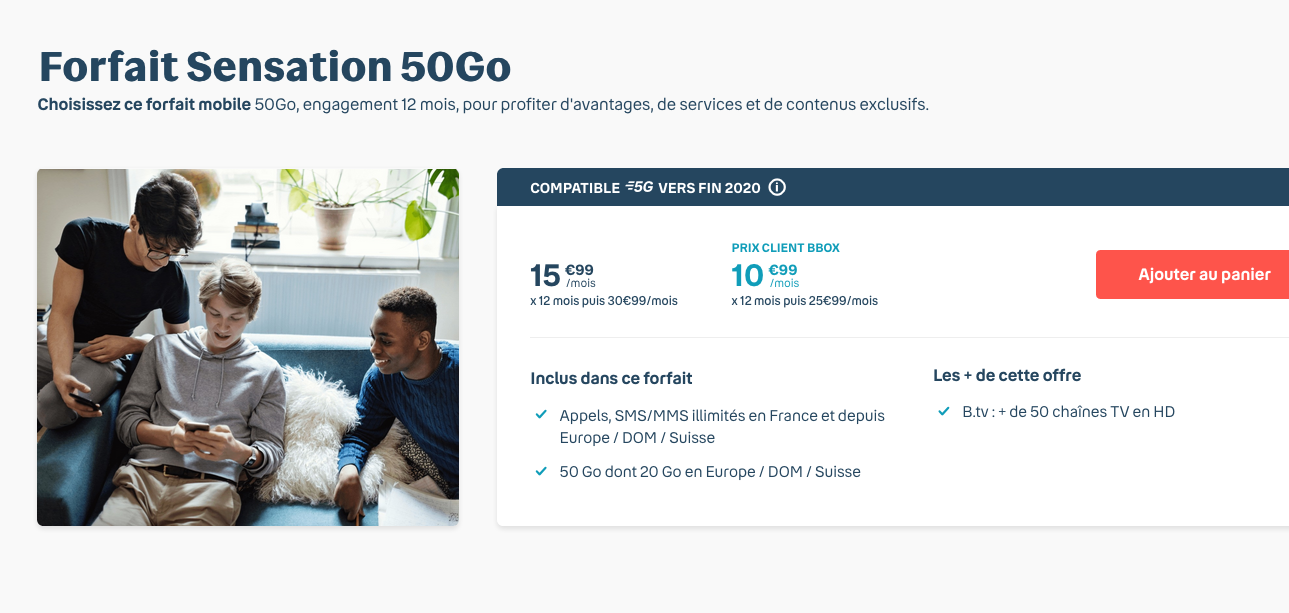 forfait mobile Bouygues 50 Go