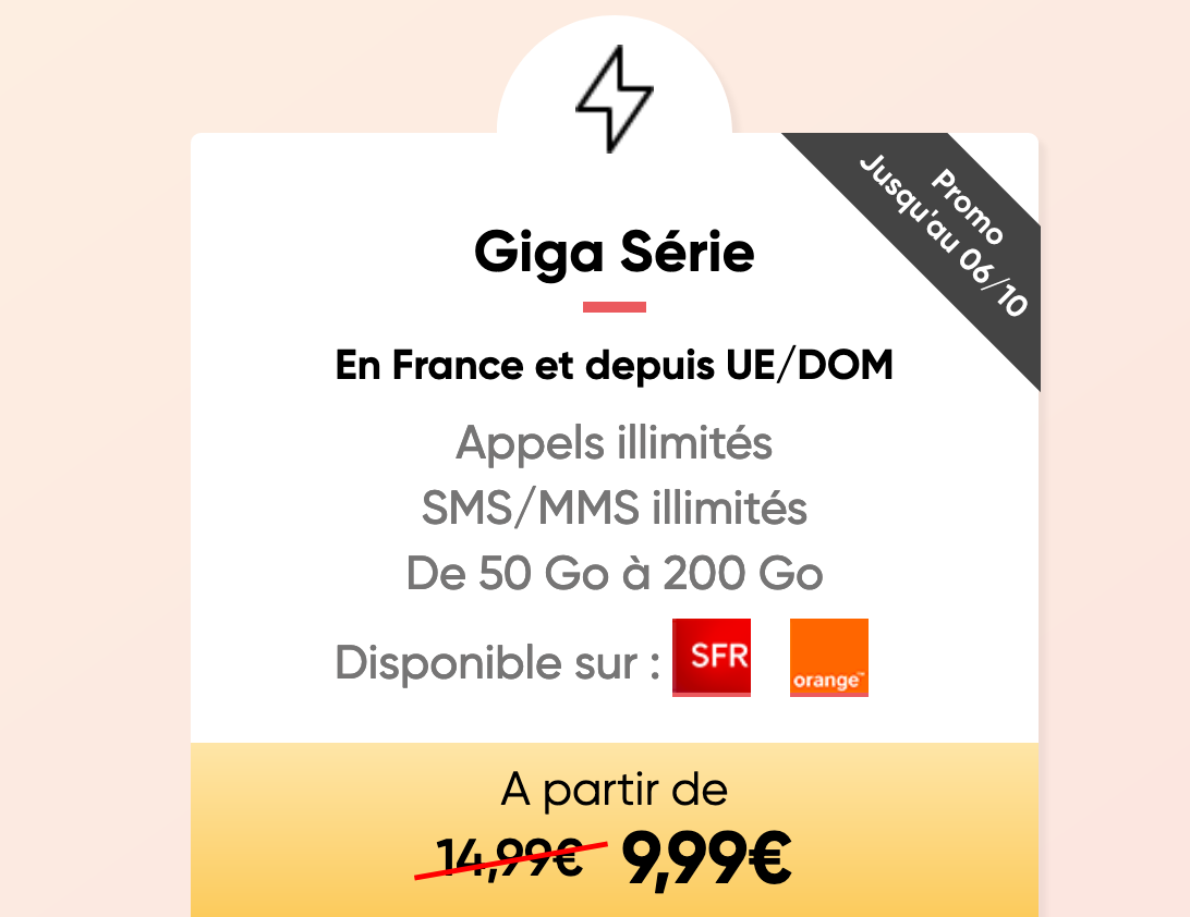 Giga Série Forfait Mobile