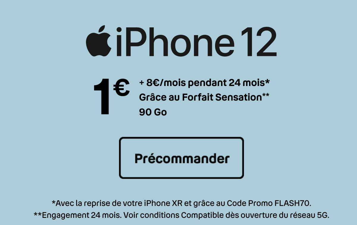 iPhone 12 Bouygues Telecom 1€