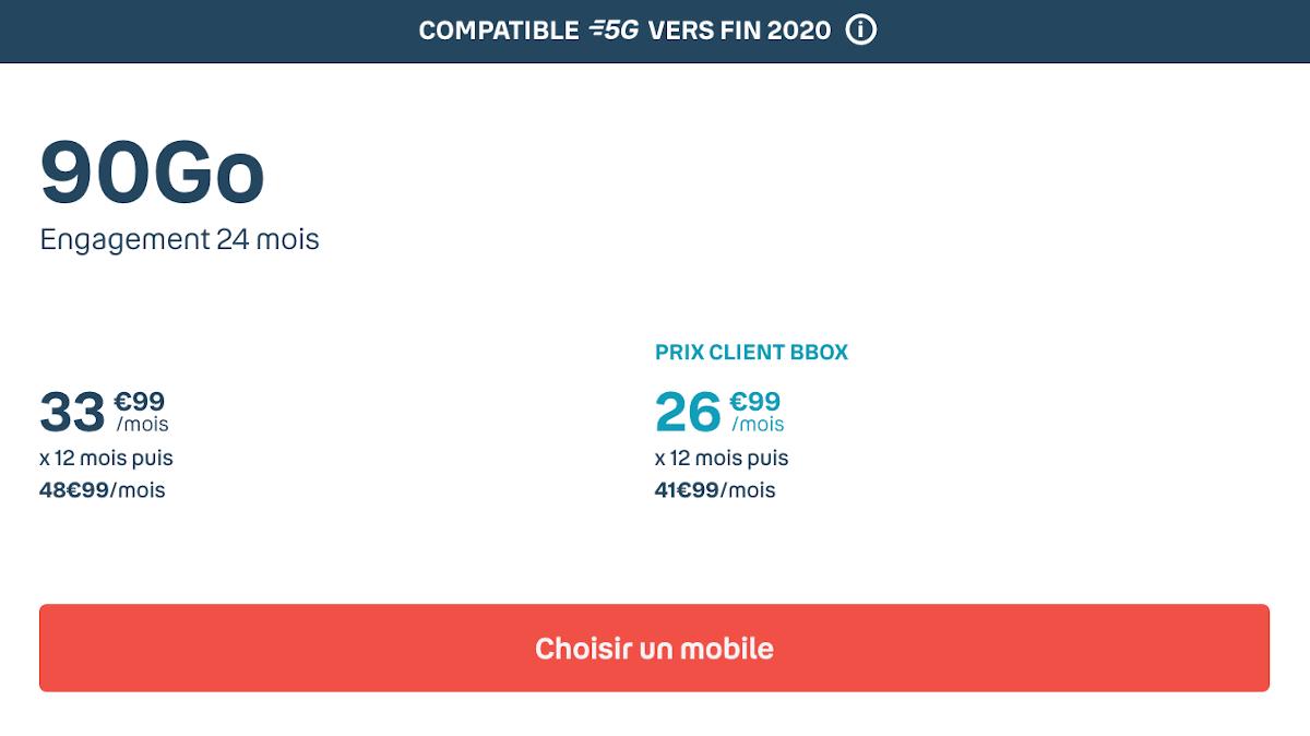 iPhone 12 Bouygues Telecom forfait Sensation