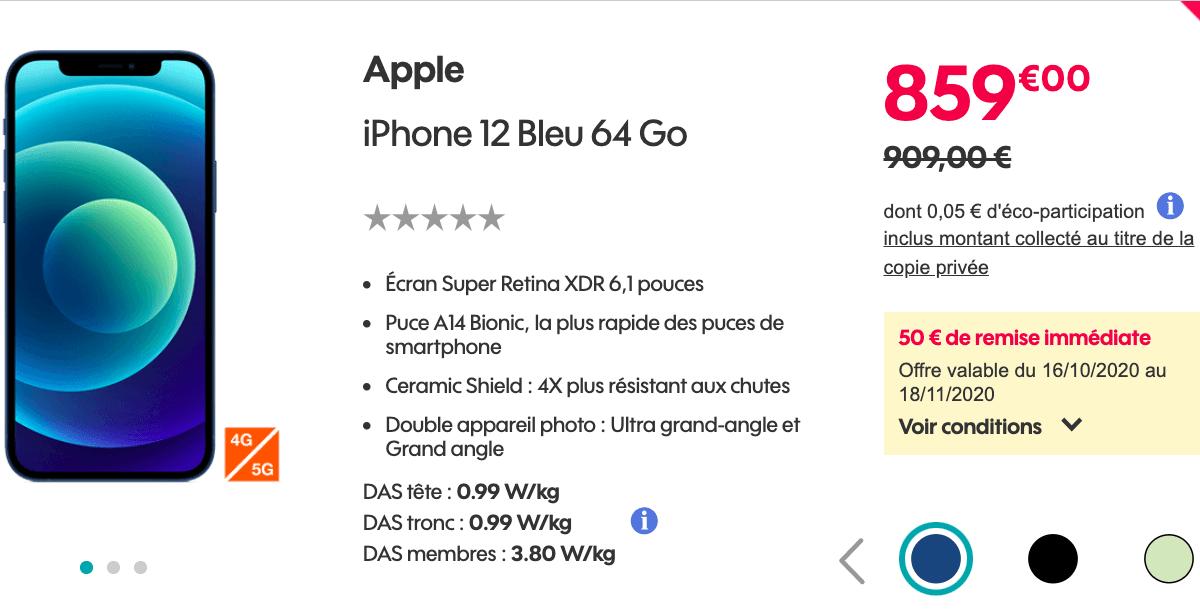 iPhone 12 Sosh