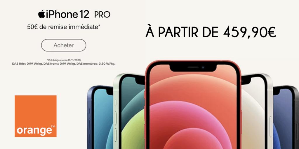 iPhone 12 pro avec Orange