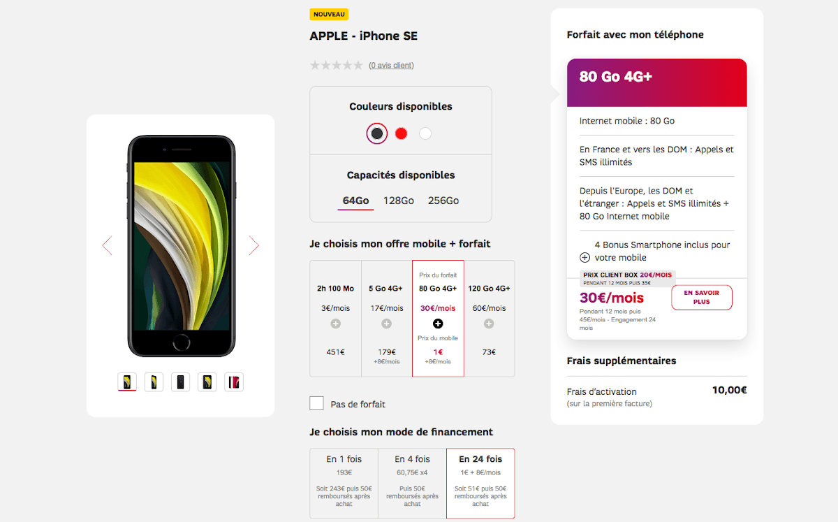 iPhone SE 1€