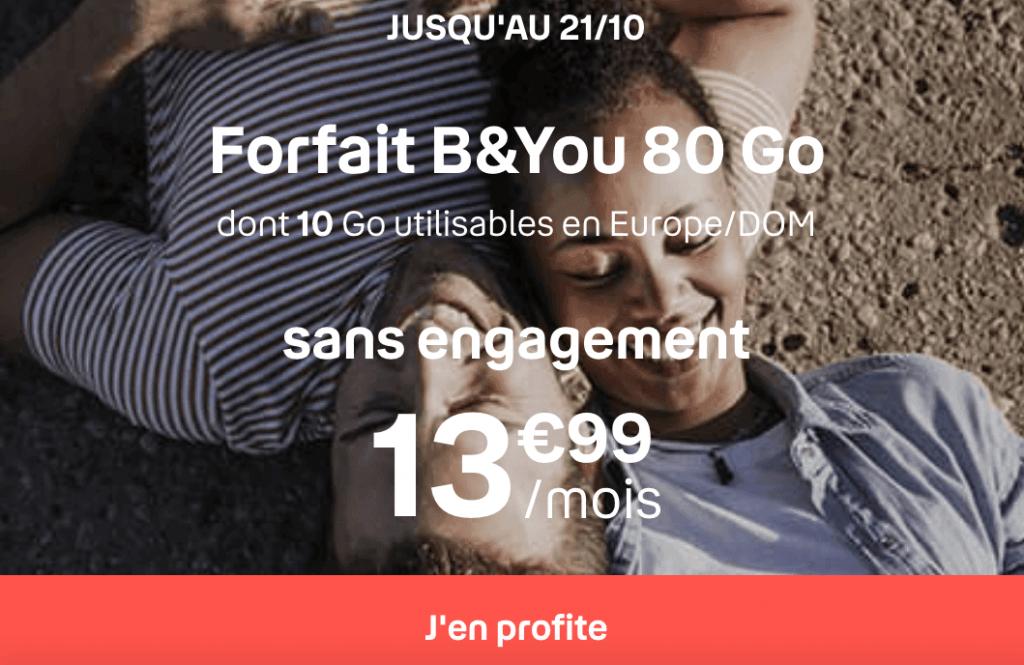 forfait mobile de 80 Go avec B&YOU