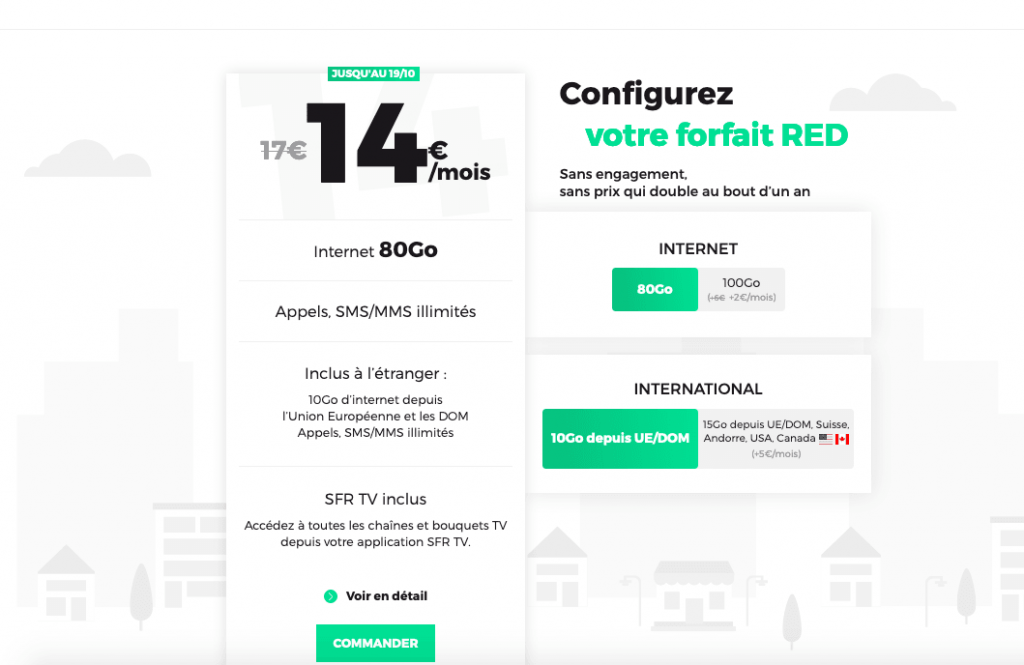 Plan de promotion illimité RED by SFR