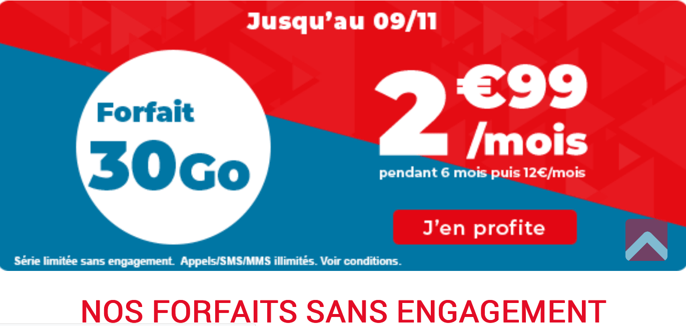 Auchan Telecom : 30 Go pour 2,99€/mois