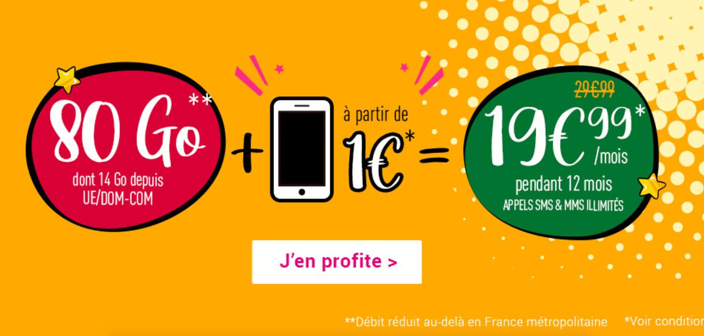 forfait 80 Go avec mobile Coriolis Telecom