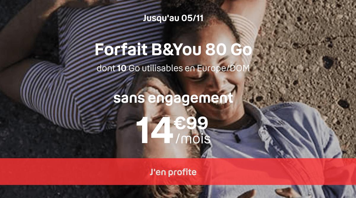 B&YOU forfait 80 Go