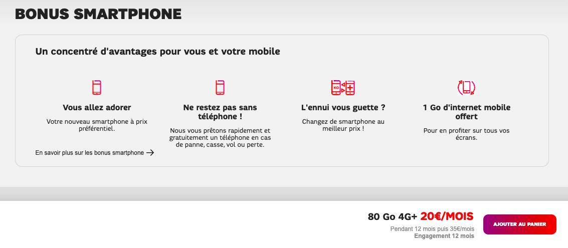 Bonus smartphone chez SFR