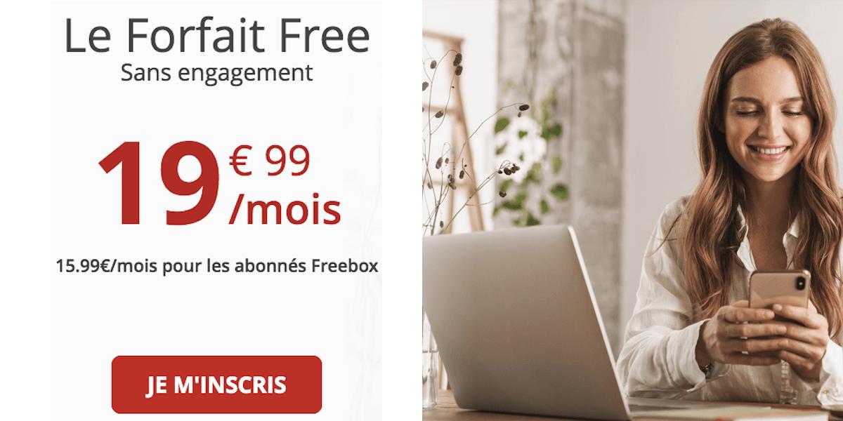 Forfait 100 Go Free Mobile