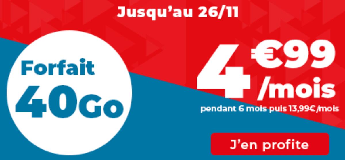 Forfait 4G Auchan télécom