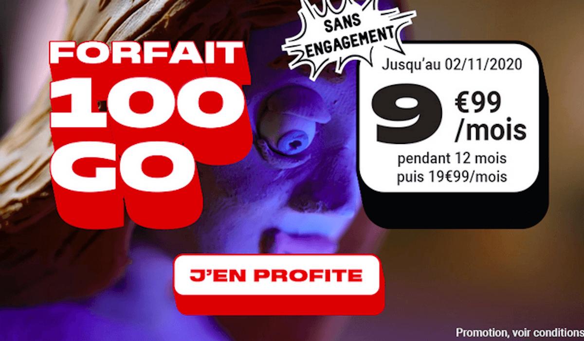 Forfait 4G illimité NRJ Mobile 100 Go