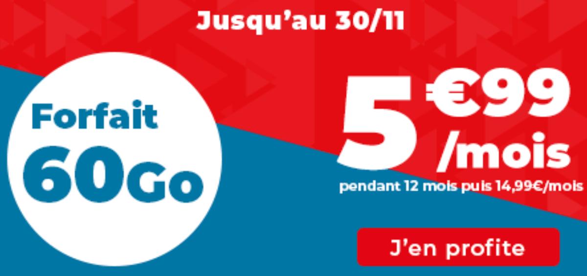 Forfait 4G pas cher Auchan télécom