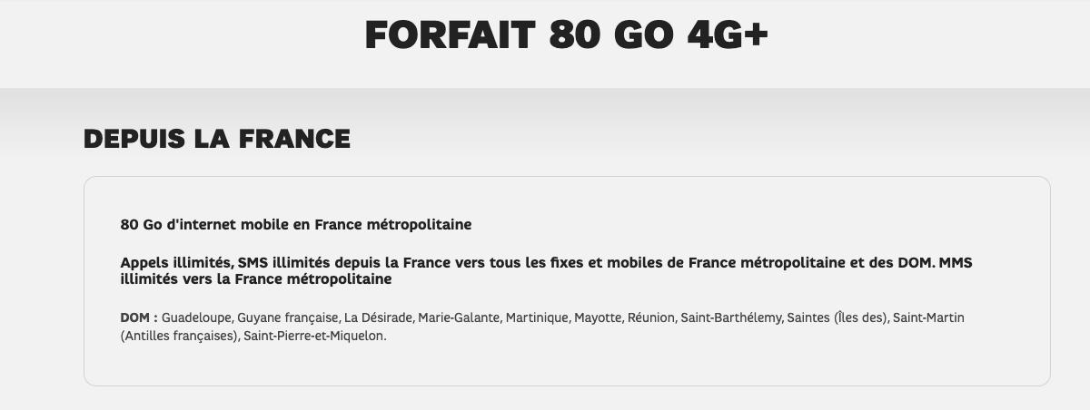 Forfait 80 Go SFR