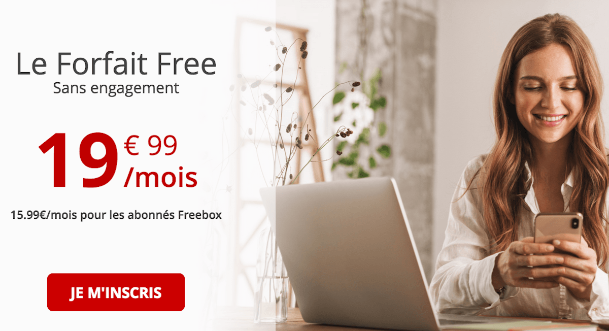 Forfait Free Mobile 100 Go 4G