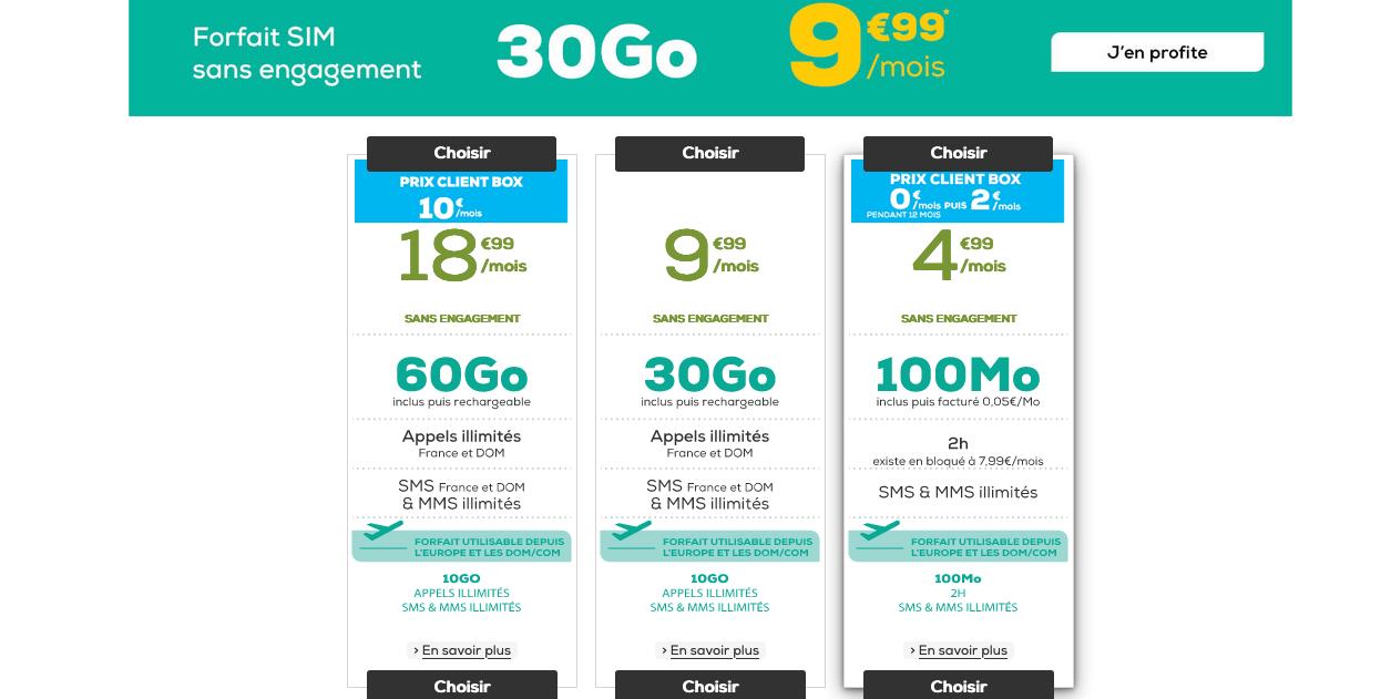 La Poste Mobile 30 Go 9,99€/mois