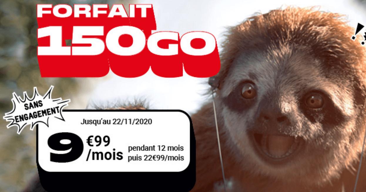forfait NRJ Mobile pour 150 Go sur PS5