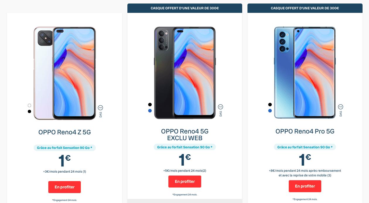 Oppo Reno4 Series chez Bouygues Telecom