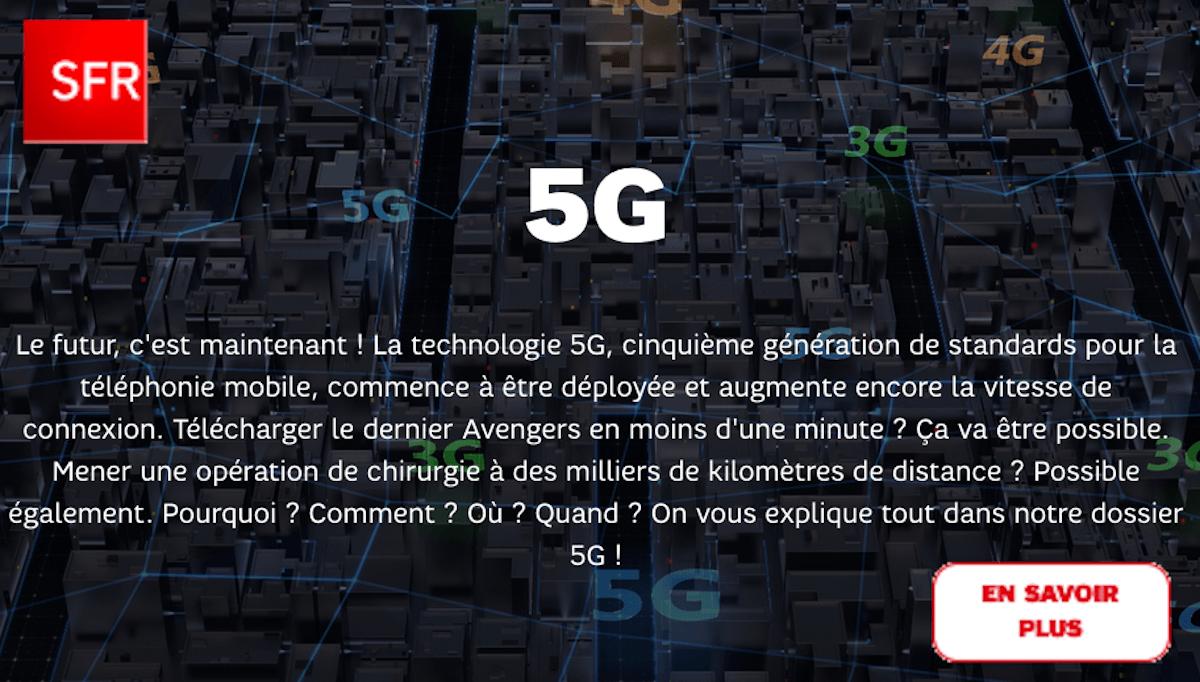 SFR déploiement 5G