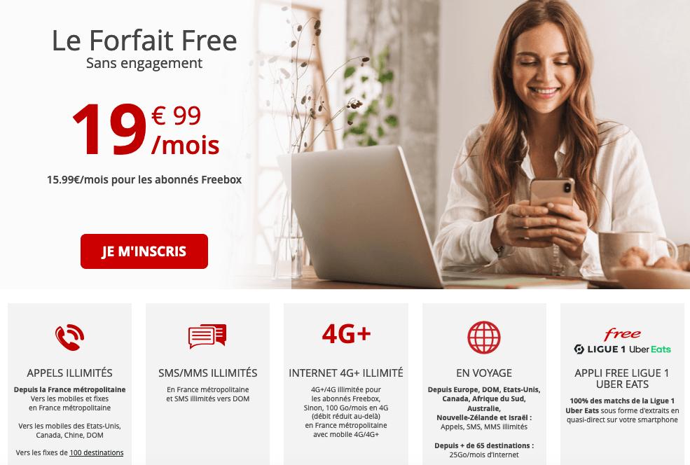forfait mobile Forfait Free