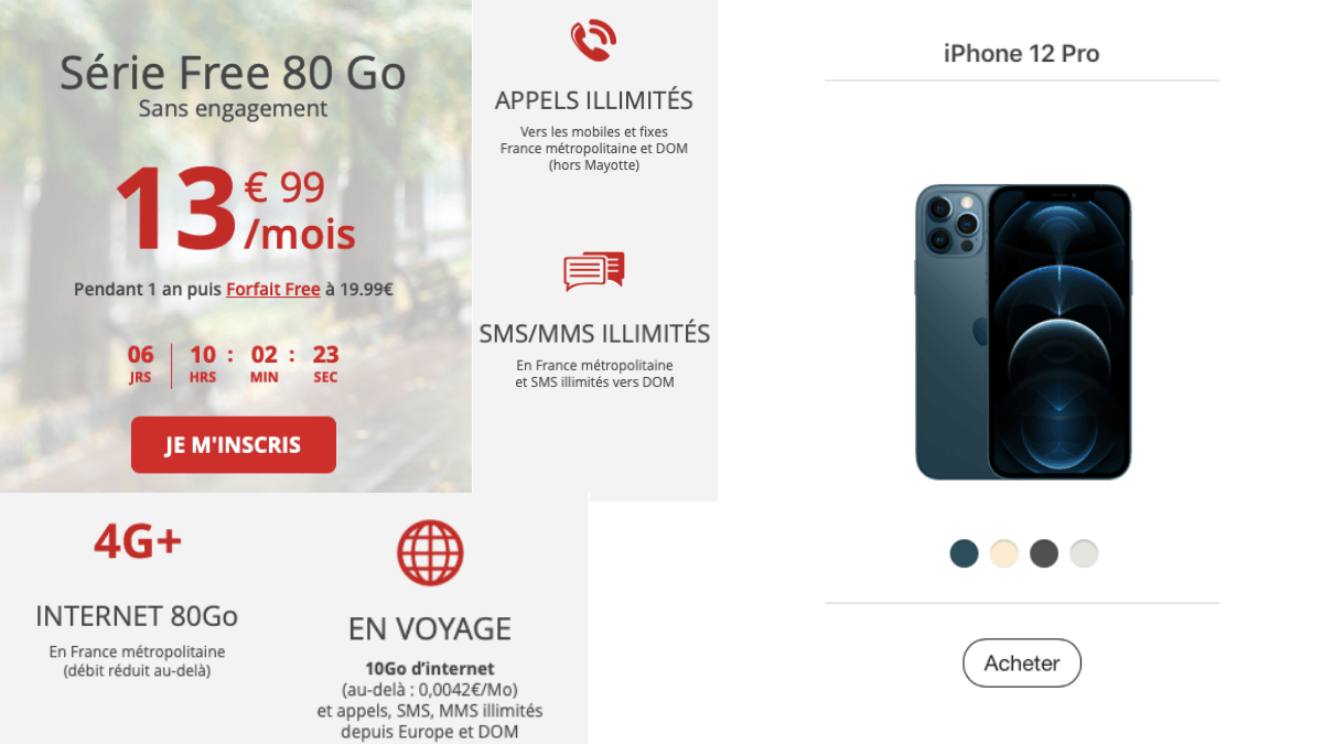 La Série Free avec l'iPhone 12 Pro.