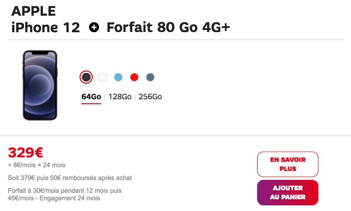 iPhone 12 chez SFR 329€
