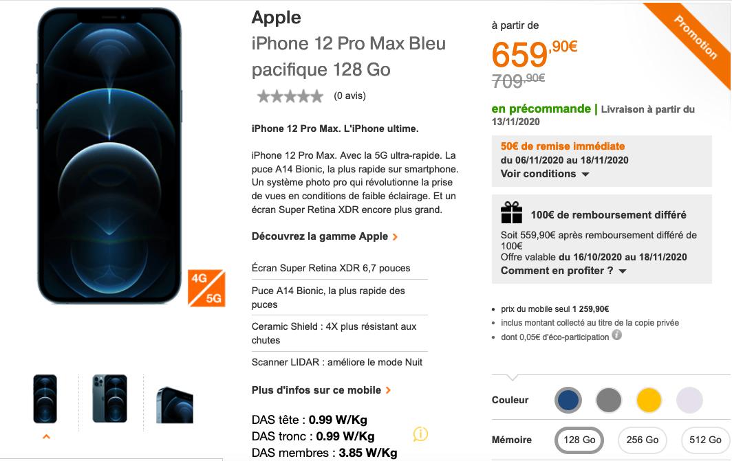 iPhone 12 pro max Orange