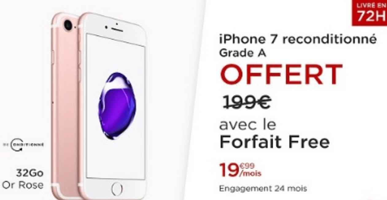 iPhone 7 et Forfait Free